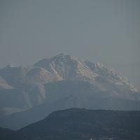 普賢岳が立山連峰に