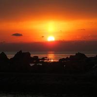 天草灘に沈む夕日