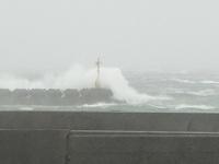 台風の影響…