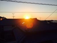夕日がキレイ・・・