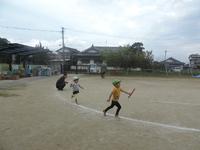 運動会予行練習をしました。