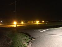 レタス畑の防蛾灯