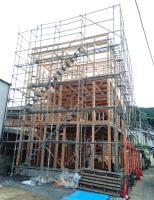 I様邸建て方3
