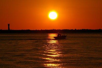 後浜の夕陽