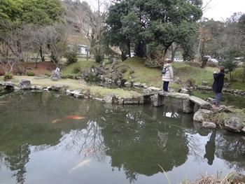 上の方までは行く気持ちにはなれず、駐車場に近い池の所まででミッション完了!