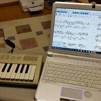 楽譜を書く作業について